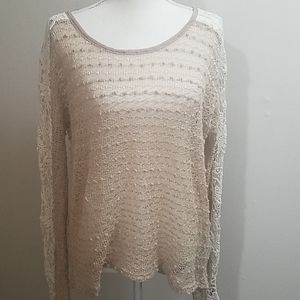 a'reve crochet sleeve top